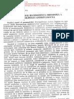 Moldovan, Pr. Ilie - Profilul moral si constiinta ortodoxa a Mitropolitului Andrei Saguna [RT, 1-2, 1996]