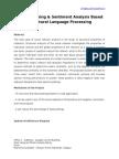 Opinion Mining & Sentiment Analysis Based on Natural Language Processing