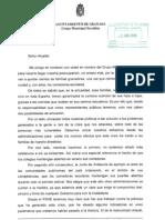 Carta apertura comedores escolares Granada