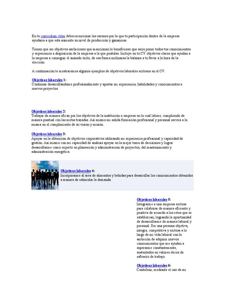 Modelo de Perfil Para Curriculum Vite
