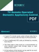 TV Remote Operated Domestic Appliances Control