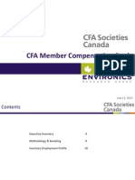 2012 CFA Compensation Survey Summary