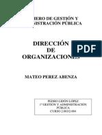 Dirección de Organizaciones Parte 1