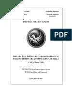 Implementación de Intercooler Frontal