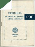 Epistolia Domnului Nostru Iisus Hristos - Editura LUMINA Oradea