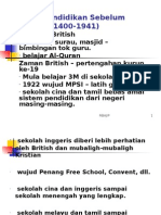 Sistem Pendidikan Sebelum MerdekaPKPG05