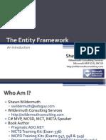 Intro Entity Framework