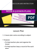 week 8  guide to lesson plan
