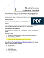 Step Into Summer Competition Overview 2015