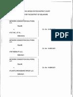 Network Congestion Solutions, LLC v. AT&T Inc., et al., Civ. Nos. 14-894-SLR (D. Del. June 4, 2015)