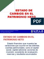 Cambios en El Patrimonio Neto y Flujo de Efectivo