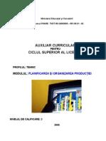 Planificarea Si Organizarea Productiei_M. Dobre AUXILIAR CURRICULAR