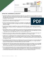 HOMEWORK Difraction Relativity 4th QTR 2014-15 (1)