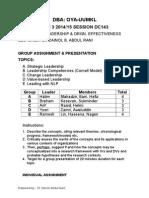 BDHS 7013 DBA - Assignment