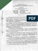 Decizie CAB anulare concediere disciplinara agent de politie Dinca Emil Florin