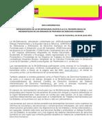 Nota Informativa Reunión Costa Rica (22062015)
