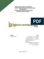 Basamentos Legales de La Administracion Publica
