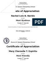 Certification Appreciation