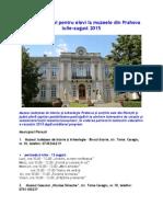 Program Estival Pentru Elevi La Muzeele Din Prahova