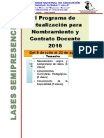 CAPACITACION Para Nombramiento y Contrato Docente 2016