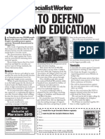 Strike to Defend Jobs and Education