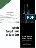 Downpull Forces on Large Gates