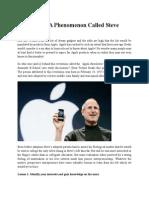 Case Study - A Phenomenon Called Steve Jobs