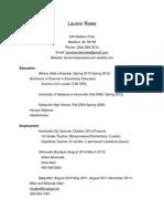 laurenrowe resume