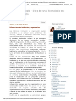 Psicoblogía - Blog de Una Licenciada en Psicologia_ Diferencia Entre Institucion y Organizacion