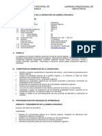 Silabo Quimica Organica- Obst. 2014-II