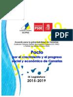 Acuerdo Para La Gobernabilidad de Canarias en La IX Legislatura 2015 2019