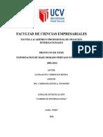 Exportación de Maíz Morado Peruano en El Año 2003 Al 2013