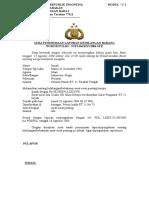 Surat Pernyataan Kehilangan Dokumen Asli