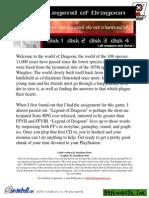 Walkthrough legend pdf dragoon of