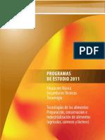 2-Plan de Estudios Secundaria Tecnica Preparación de Alimentos