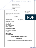 Barea v. State University of New York at Albany - Document No. 5