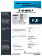 United Security AVD-2007 Data Sheet