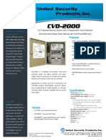 United Security CVD2000 Data Sheet