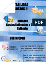 Costo Estimado y Estandar