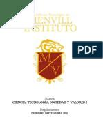 Guía extraoridinario Ciencia, Tecnología, Sociedad y Valores 1