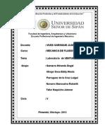 Informe Lab. tubo de Venturi, pitot y bernoulli