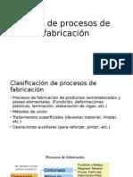 Tipos de Procesos de Fabricación