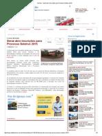 DeFato - Senai Abre Inscrições Para Processo Seletivo 2015