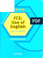 First Certificate of English Use of English Upper Intermediate - Bourke and Maris - Oxford University Press
