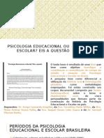 [AULA 01] Psicologia Educacional Ou Escolar
