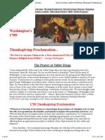 George Washington's 1789 Thanksgiving Proclamation...