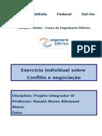 Exercício Individual Conflito e Negociação
