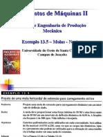 Exemplo (Mola Hel Tracao) - Ex 13-5 Norton