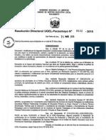 R.D. Nº 632 - Comité CAS - Soporte Pedagógico