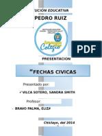 Fechas Cívicas del mes de DICIEMBREdel año 2014.docx